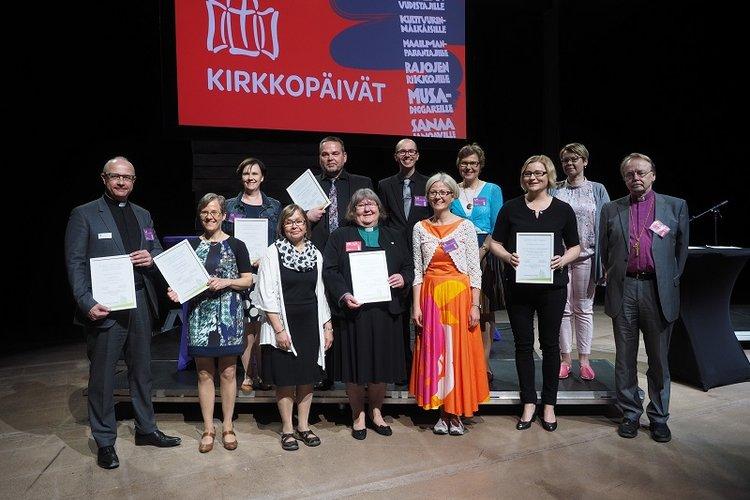 KirTEKO-työelämän kehittäjät kuvattuina Kirkkopäivillä.