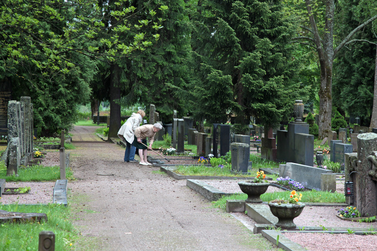 Cemetary in the summer.