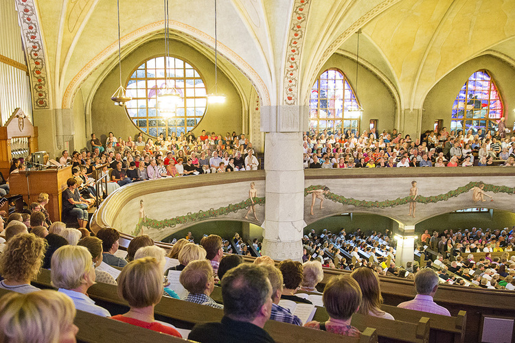 A worship at Tampere's cathedral