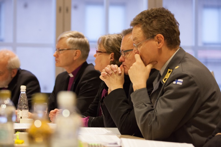 Chaplain General at the bischops meeting.