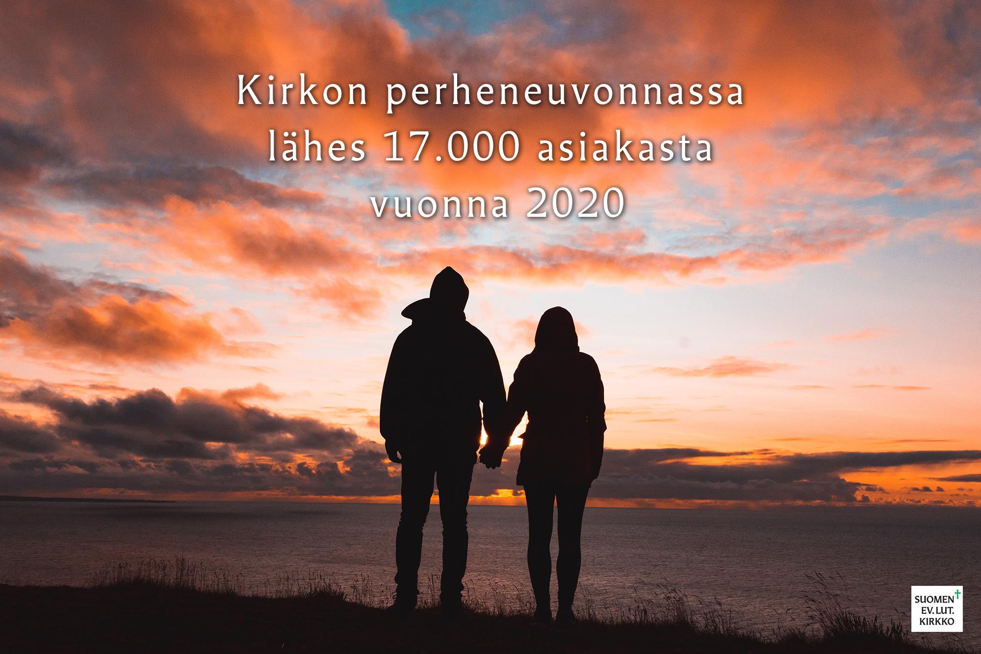 Kirkon perheneuvonnassa lähes 17.000 asiakasta vuonna 2020.